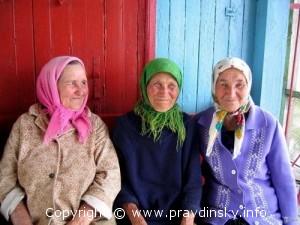 Жительницы деревни Русаковичи