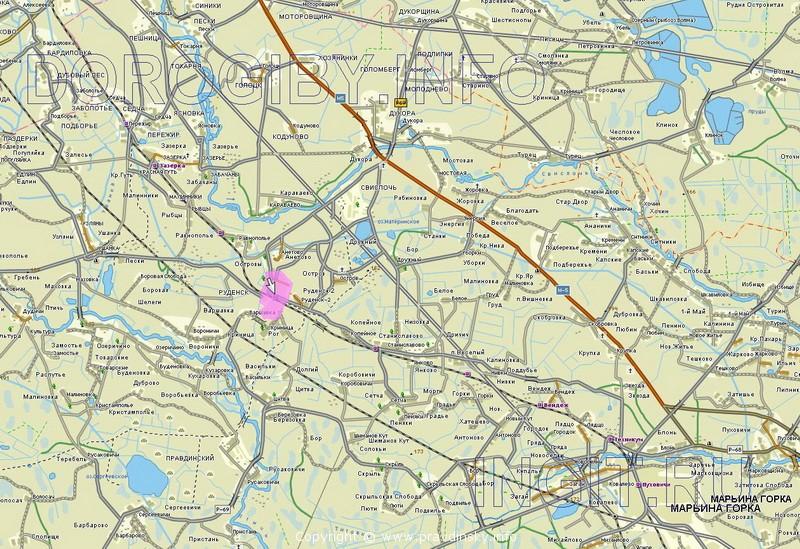 Карта части Пуховичского