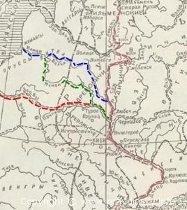 """Путь """"Из варяг в греки"""" проходивший недалеко от Правдинска. Карта прохода Из варяг в греки"""